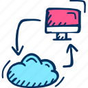 computing, cloud, web icon