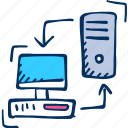 desktop, monitor, server icon icon