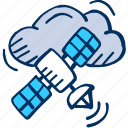 cloud, communication, computing, hosting, satellite, space icon icon