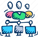 collaboration, networking, team, working icon icon