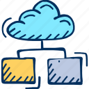 cloud, computing, database, server icon