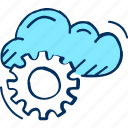 cloud, data, device, forecast, laptop, server, weather icon