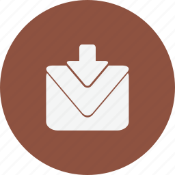 download, mail, media, notification icon
