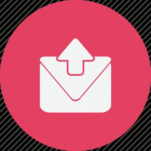 mail, media, notification, upload icon
