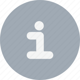information, media, notification, sign icon