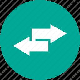 arrow, media, navigation, notification icon
