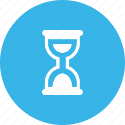 hourglass, media, notification, time icon