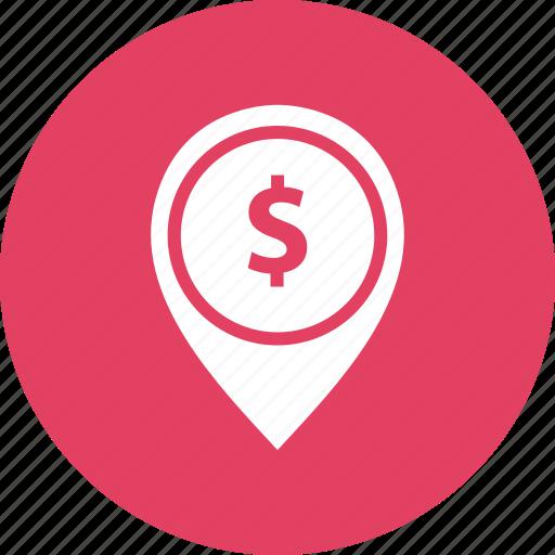 map, media, money, notification icon