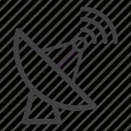 dish, radiotelescope, satellite icon