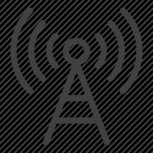 antenna, communication, signal, tower icon