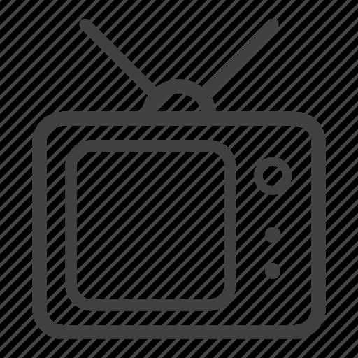 retro, television, tv icon