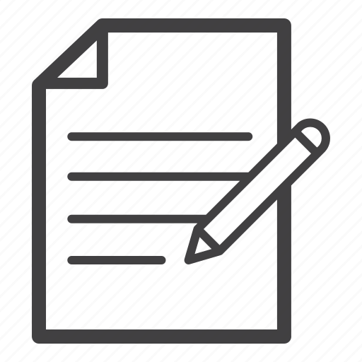 document, note, paper, writing icon
