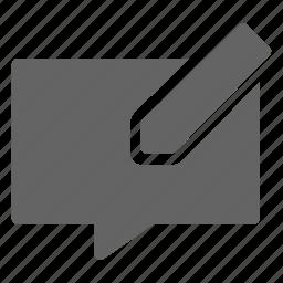 message, typing, write icon