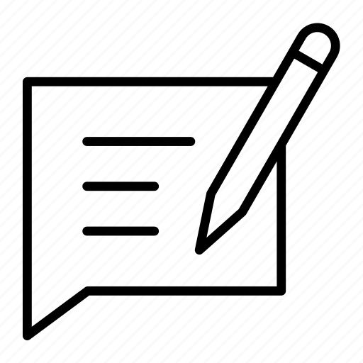 comment, edit comment, message, write icon