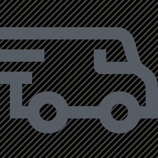 delivery, logistics, transportation, travel, van icon