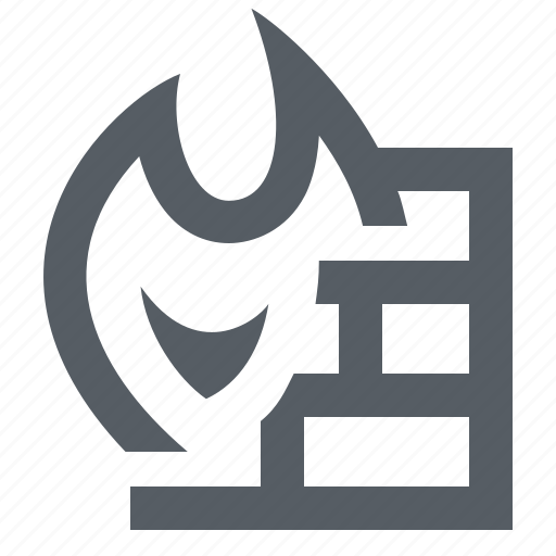 computer, firewall, hack, security, technology icon