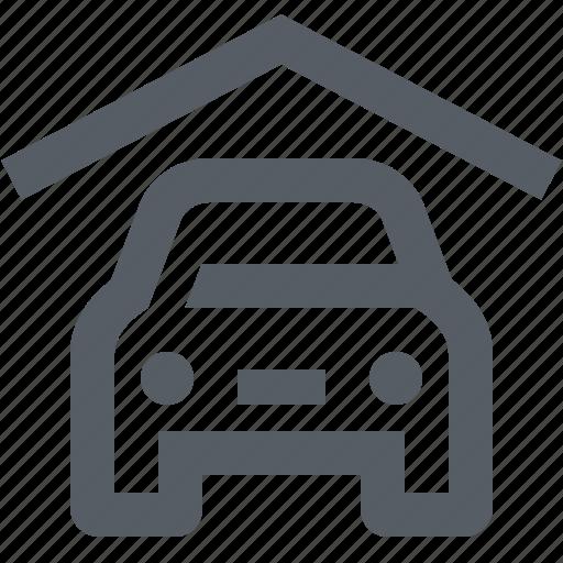 car, carport, garage, home, transportation icon