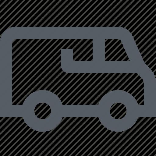 delivery, logistics, transportation, travel, truck, van icon