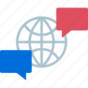 communication, earth, internet, web icon