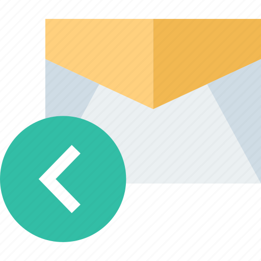 back, email, mail, message icon