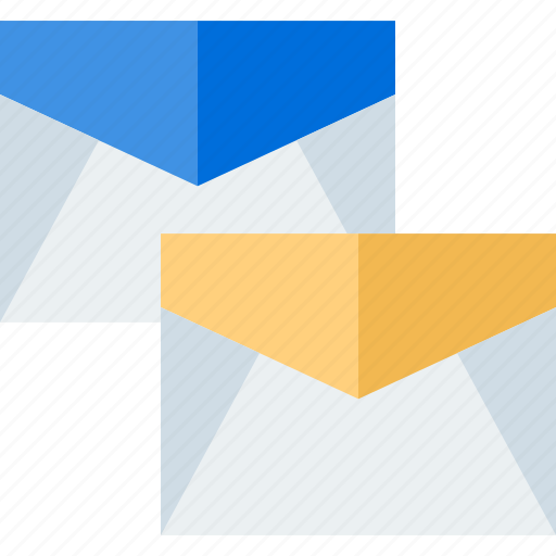 email, mail, message, two icon