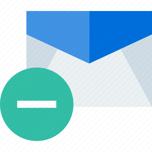 delete, email, gmail, negative icon