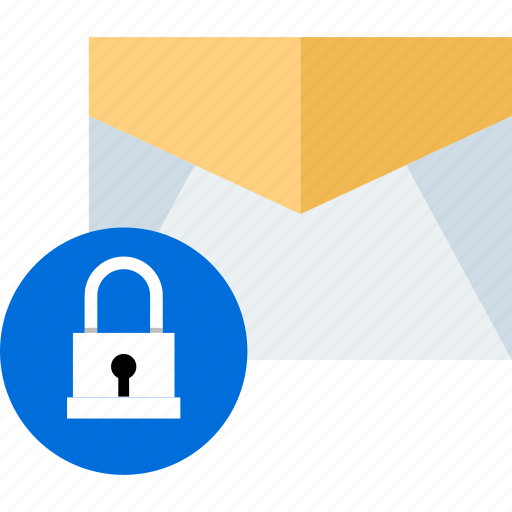 email, lock, mail, message icon