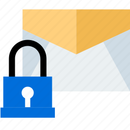 email, lock, safe, secured icon