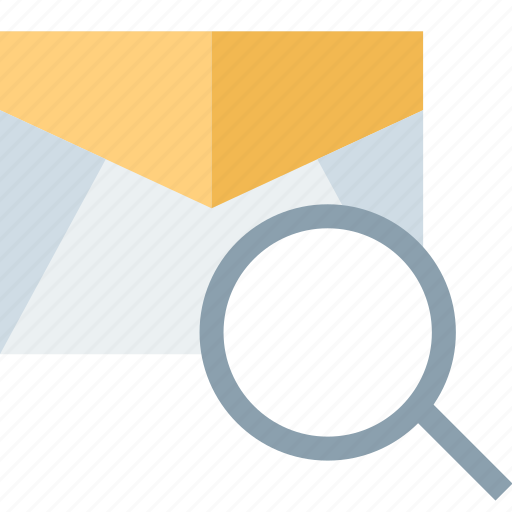 email, mail, message, search icon