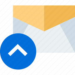arrow, message, send, up icon