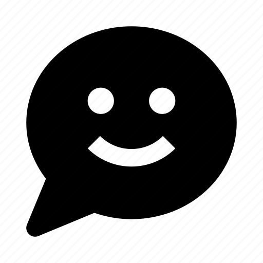 bubble, chat, communication, message, smile, talk icon