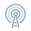 antenna, broadcast, communication, podcast, radio, wave icon