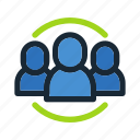 communication, conversation, discussion, group, information, message, team icon