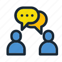 communication, conversation, discussion, information, message, talk, users