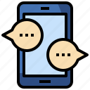 chat, communications, conversation, messaging, mobile, multimedia, speech icon
