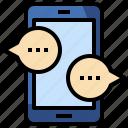 chat, communications, conversation, messaging, mobile, multimedia, speech