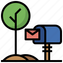 communications, letter, letters, mail, mailbox, mailman, message, post, postal, send, service icon