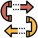 arrow, call, interface, phone, receiver, telephone, telephones icon