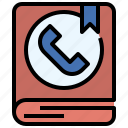 book, call, interface, phone, receiver, telephone, telephones icon
