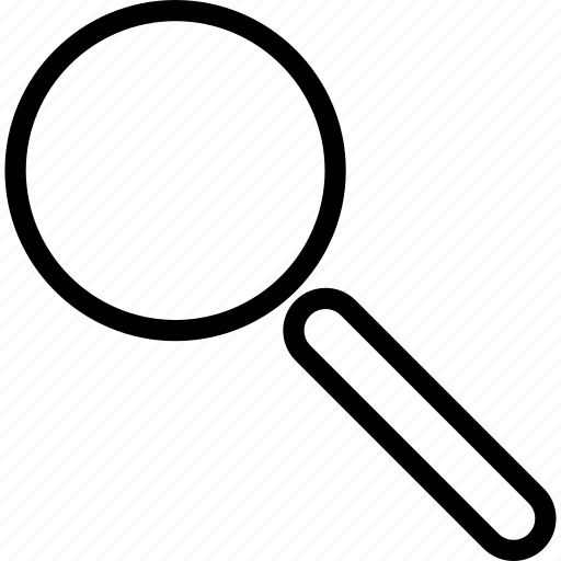 magnifying glass, megnifier, search, zoom icon