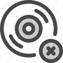 audio, cd, disc, error, music, record, rejected icon