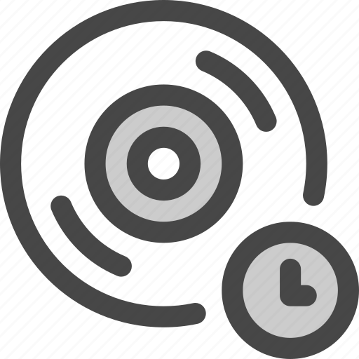 audio, cd, disc, length, music, record, time icon