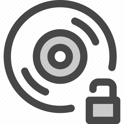 audio, available, cd, disc, music, record, unlocked icon