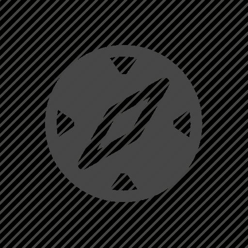 compass, location, travel icon