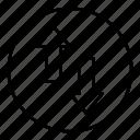 arrow, direction, exchange, swap, vertical icon