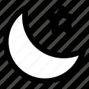 moon, night, sky, sleep, stars