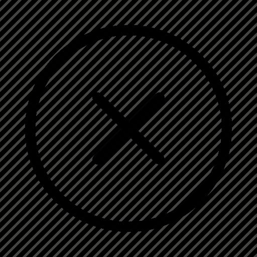 Circle, close, cross, delete, remove icon - Download on Iconfinder