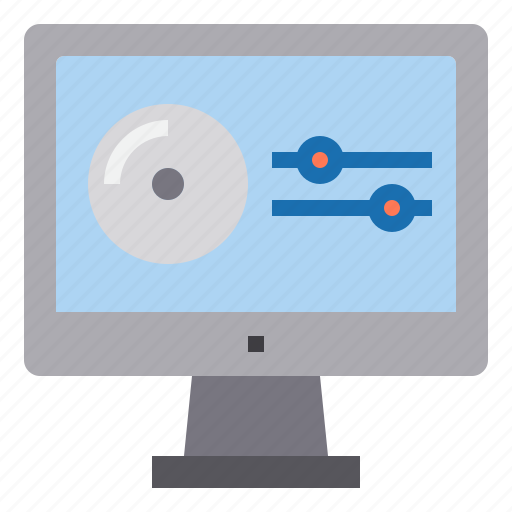 cd, computer, interface, player, technology icon