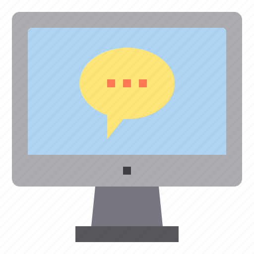 chat, computer, contact, interface, service, technology icon