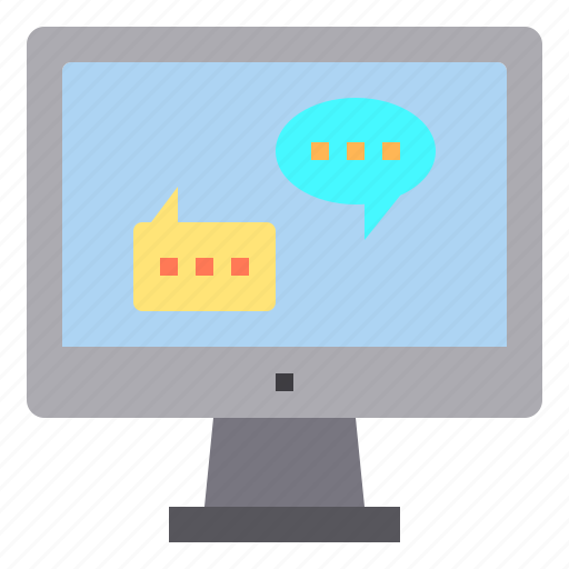 chat, computer, customer, interface, service, technology icon